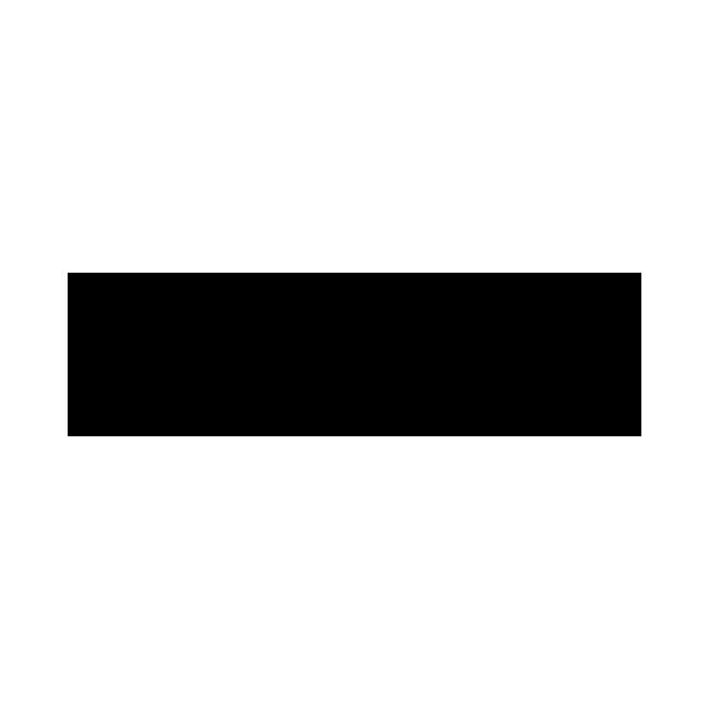 Двухсторонний крестик серебряный Лилия