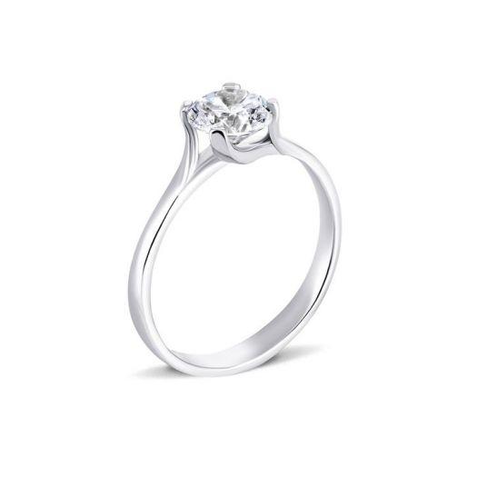 Серебряное кольцо для помолвки Признание