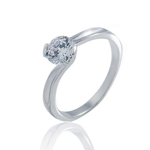 Срібна каблучка до заручин Подарунок нареченій