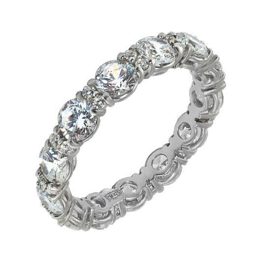 Срібна каблучка з білим цирконієм Віночок щастя
