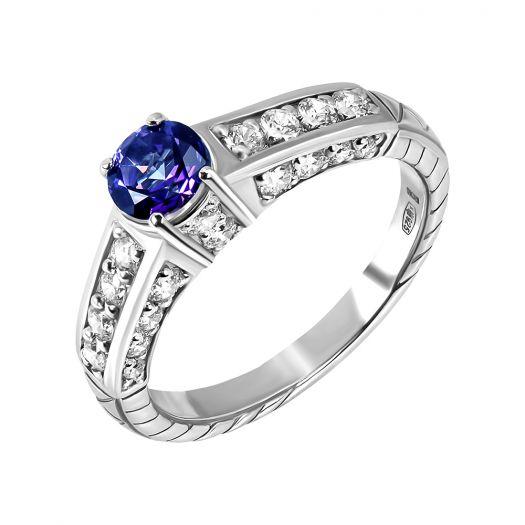 Серебряное кольцо с иолитом Власта