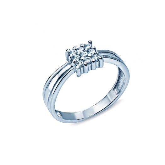 Серебряное кольцо со вставками циркония Софита