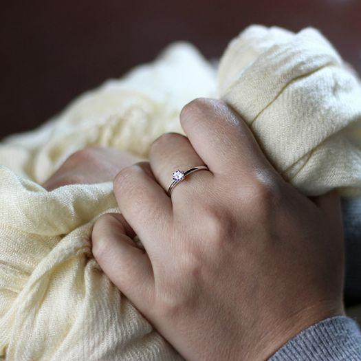 Серебряное кольцо для помолвки Единственная