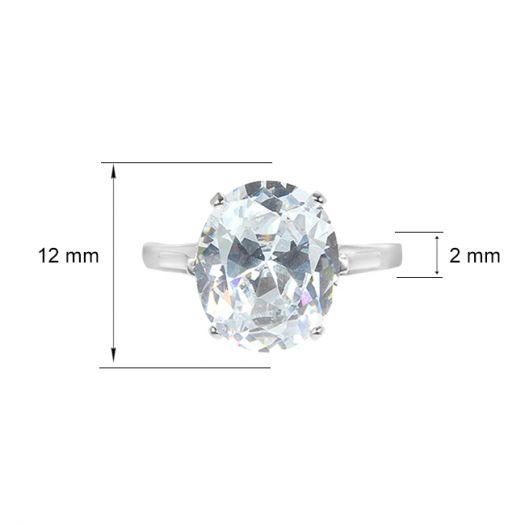 Серебряное кольцо с крупным камнем Джеральдин