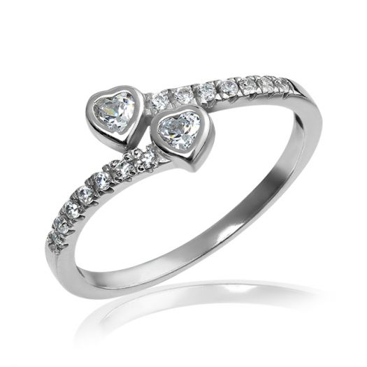 Серебряное кольцо с цирконием Слияние
