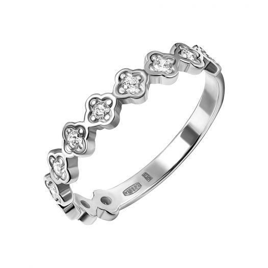 Серебряное кольцо Нежные цветы
