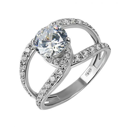 Серебряное кольцо с крупным камнем Гелиана