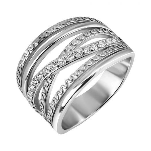 Срібна каблучка з каменями Валенсія