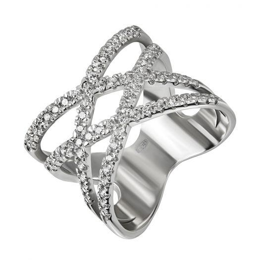 Срібна каблучка з каменями Калліста