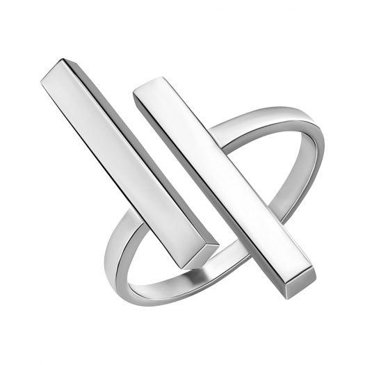 Серебряное кольцо без вставок Инга