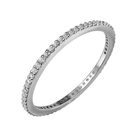 Срібна каблучка з камінням Поєдання