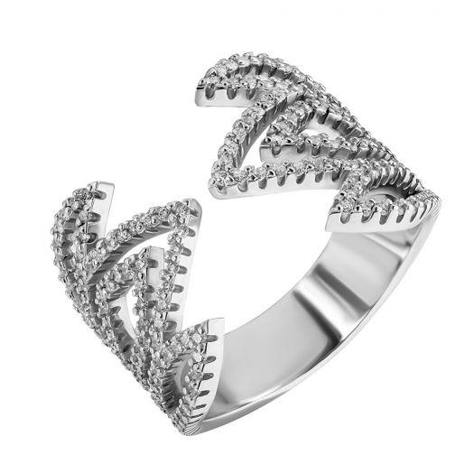 Серебряное кольцо с камнями Санди