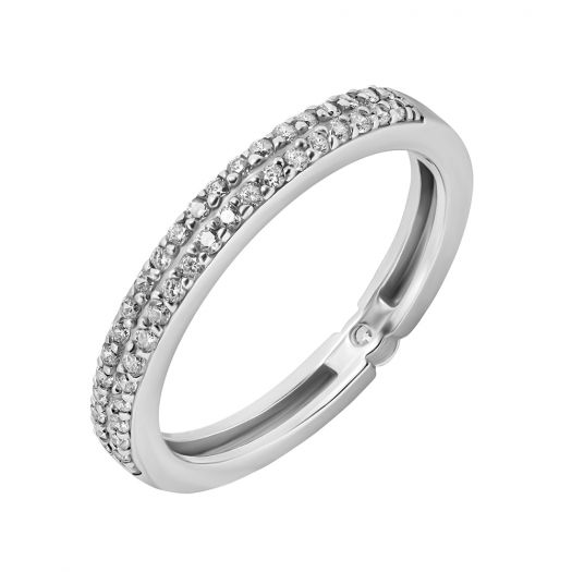 Серебряное кольцо двустороннее Мирета