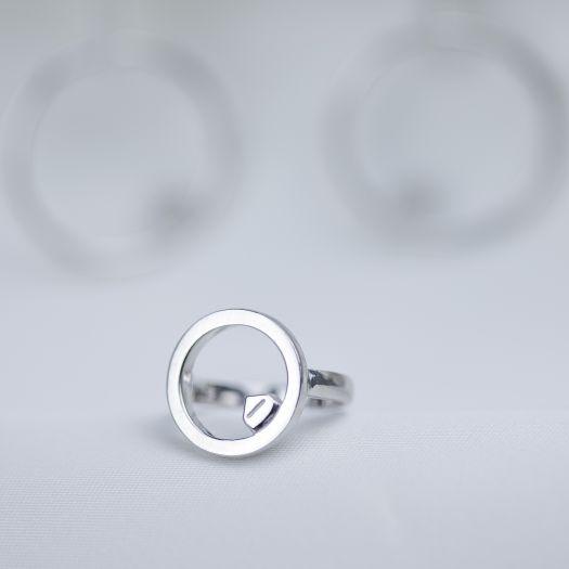 Серебряное кольцо Летающий дом