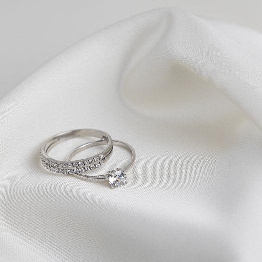 Серебряное кольцо для помолвки Преданность