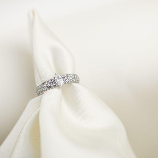 Серебряное кольцо Кружево