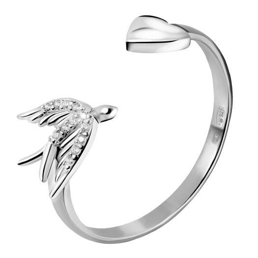Серебряное кольцо Ласточка