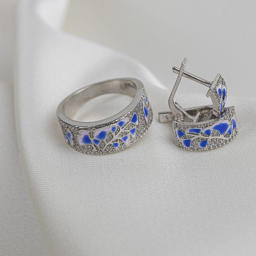 Серебряное кольцо Летние цветы