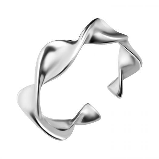 Срібна каблучка безрозмірна Вихор