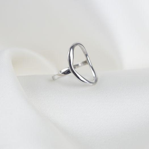 Срібна каблучка безрозмірна Дзеркало