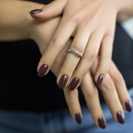 Серебряное кольцо Ленточка