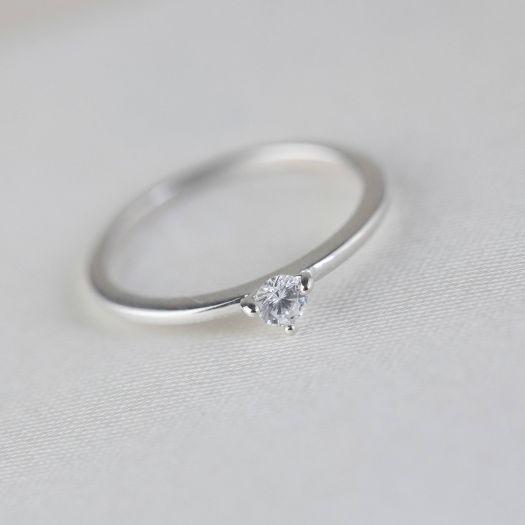 Серебряное кольцо для помолвки Вечность