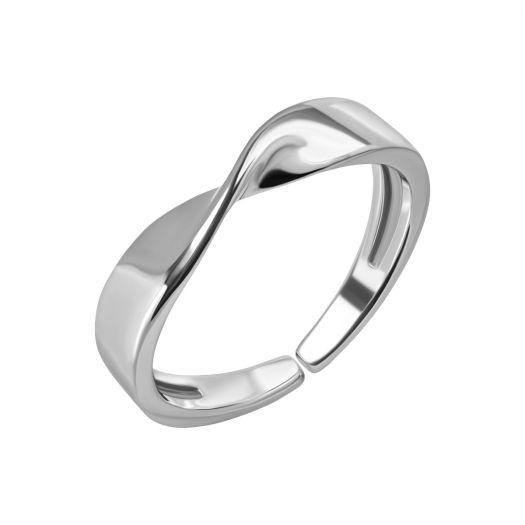 Серебряное кольцо незамкнутое Портал