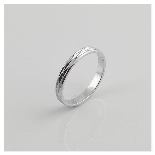 Серебряное кольцо обручальное Навечно