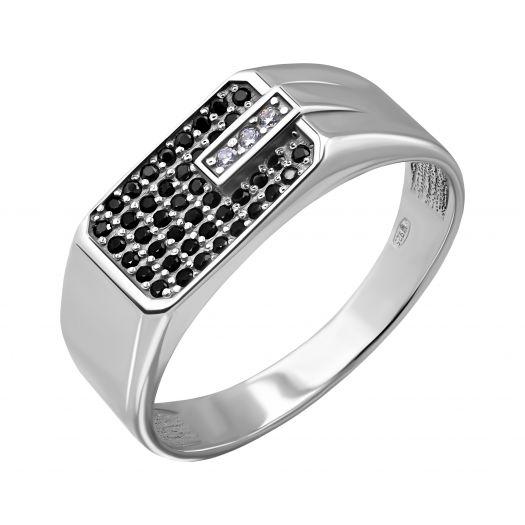 Серебряный перстень мужской Валентайн