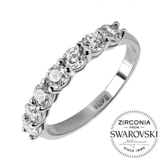 Срібна каблучка з камінням Swarovski Іанта