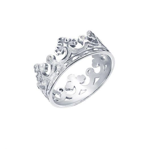 Серебряное кольцо Царская Корона