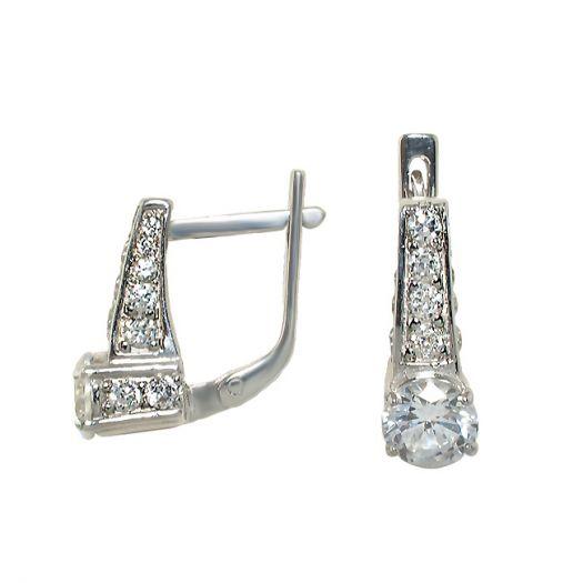 Срібні сережки з цирконієм Власта