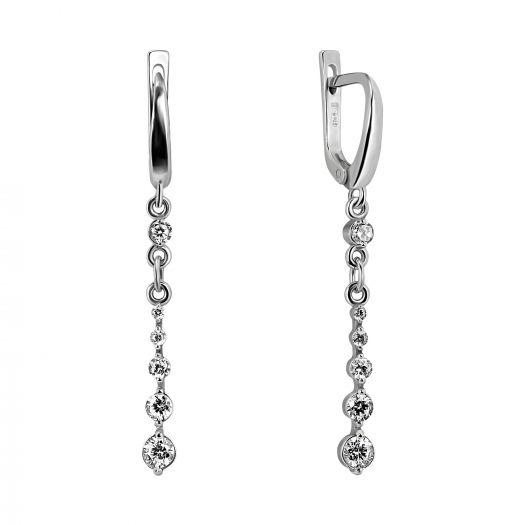 Серебряные серьги-подвески Геката