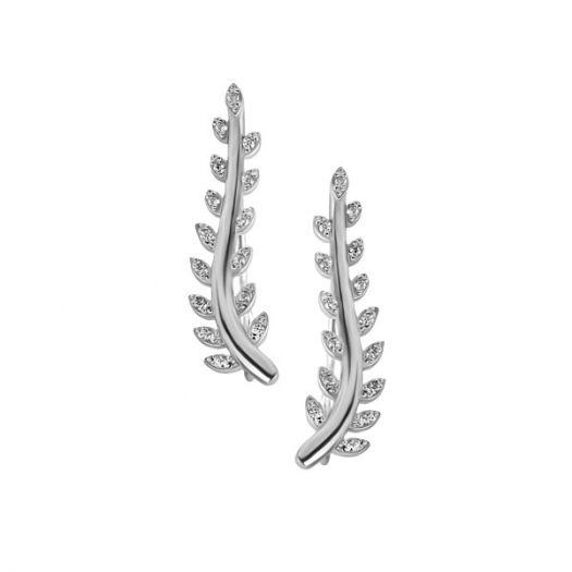 Серебряные серьги-каффы Нета