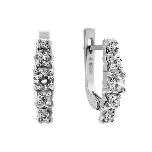 Срібні сережки з камінням Авріл