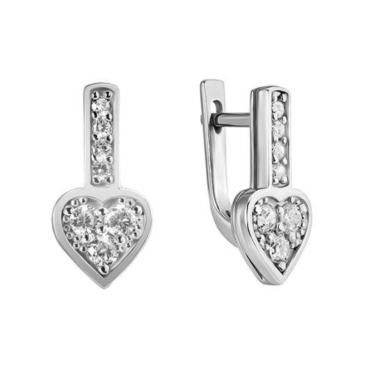 Срібні сережки Сердечко