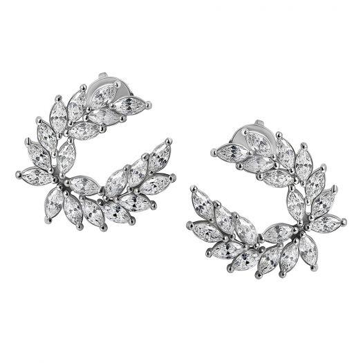 Срібні сережки пусетні Дафна