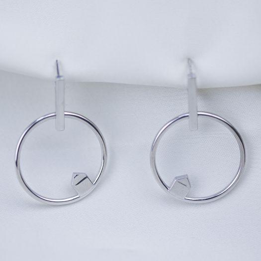 Срібні сережки Летючий дім
