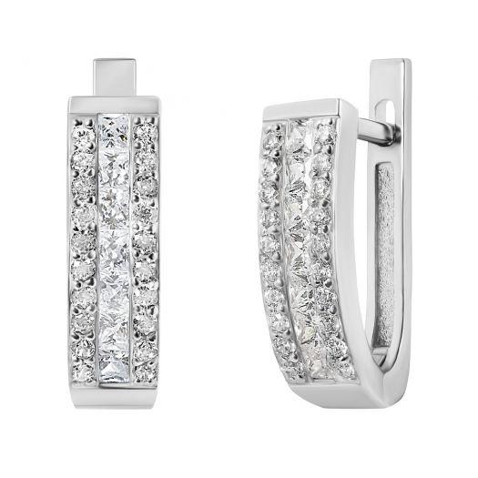 Срібні сережки з камінням Вишуканість