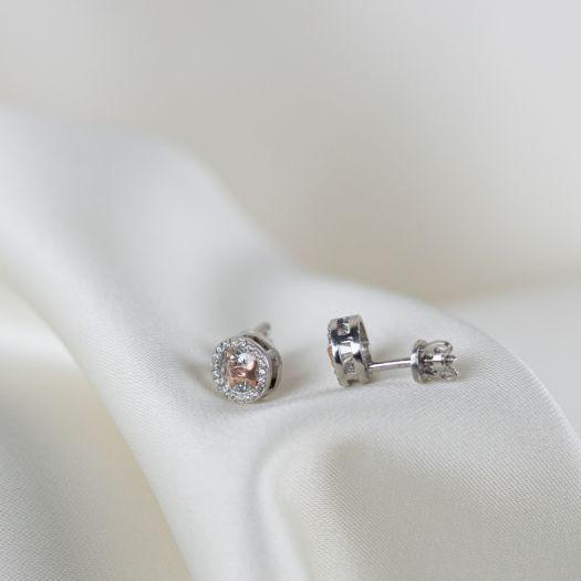 Серебряные серьги Стиль с позолотой