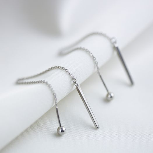Серебряные серьги Леда