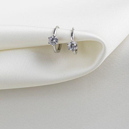 Срібні сережки Елегантність