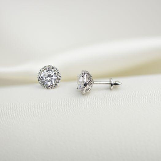 Срібні сережки Блиск