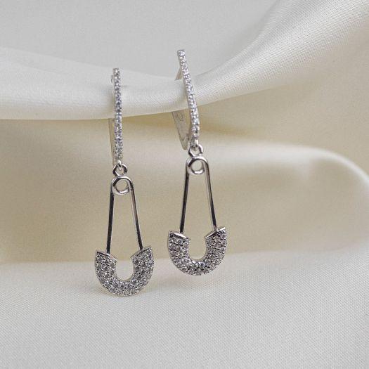 Срібні сережки Шпилька
