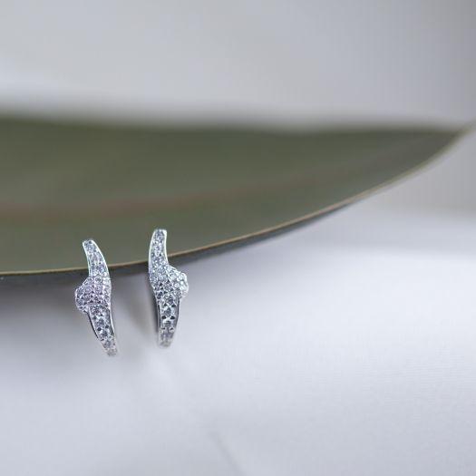 Срібні сережки Комета