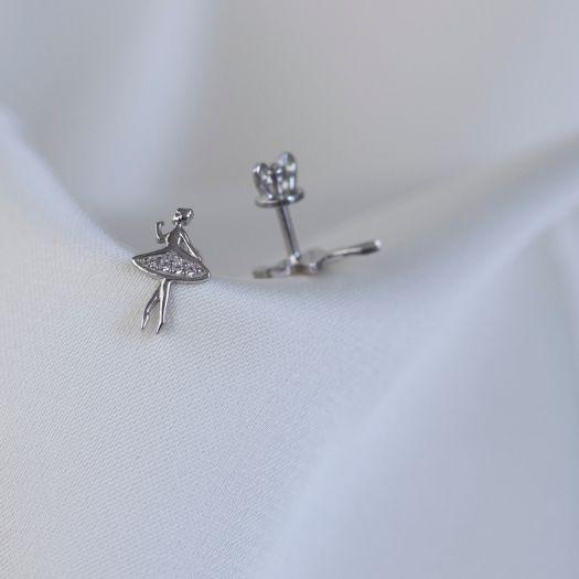 Срібні сережки Прима