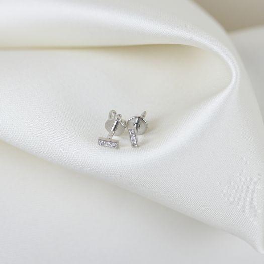 Срібні сережки-пусети Риса