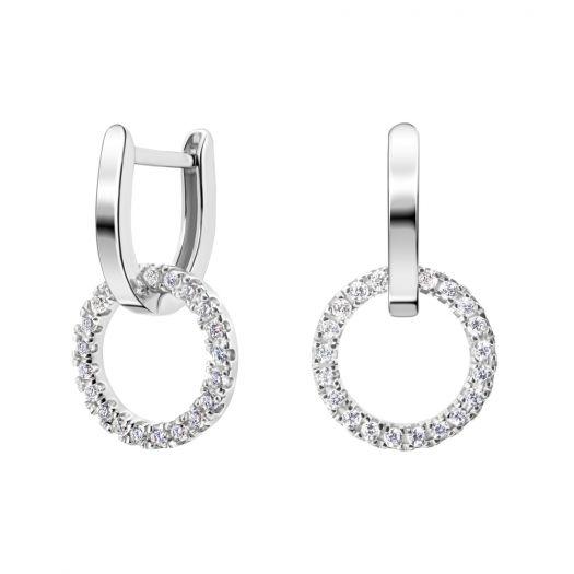 Срібні сережки Дотик