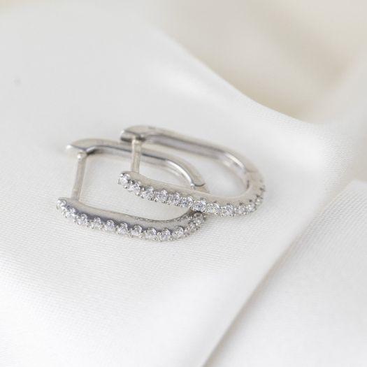 Срібні сережки Ілюзія