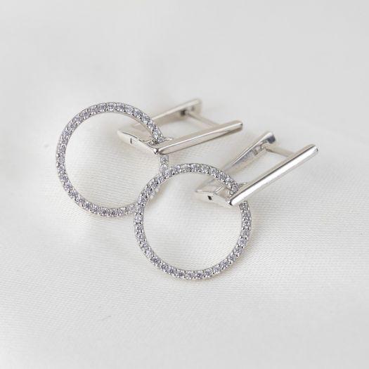 Срібні сережки Сплетіння